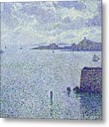 Sailing Boats In An Estuary Metal Print