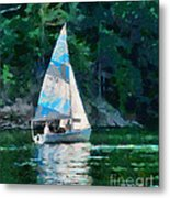 Sailing Cave Run Lake Metal Print