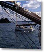 Sailing Coastal Maine Metal Print