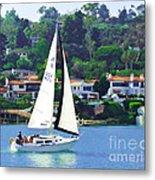 Sailing Home Metal Print