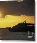 Sailing Into The Sun Cozumel Mexico Metal Print