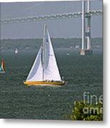 Sailing Newport Metal Print