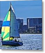 Sailing On Boston Harbor Metal Print