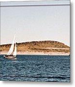 Sailing On Carter Lake Metal Print