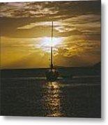 Sailing Sunset Metal Print