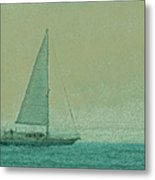 Sailing The Coast Metal Print
