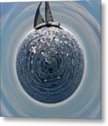 Sailing The World Metal Print