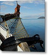 Sailing Through The Narrows Metal Print
