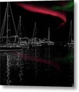 Sailing Under Strange Lights Metal Print