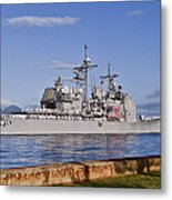Sailors Aboard The Guided-missile Metal Print