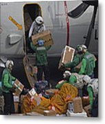 Sailors Load Mail On To A C-2a Metal Print