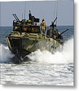 Sailors Navigate The Waters Metal Print