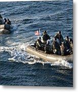 Sailors Participate In A Visit, Board Metal Print