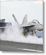 Sailors Prepare An Fa-18f Super Hornet Metal Print