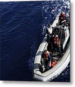 Sailors Stand Watch On A Rigid-hull Metal Print