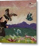 Saint Francis And The Birds Metal Print by Nicole Besack