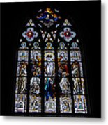 Saint Johns Stained Glass Metal Print