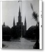 Saint Louis Cathedral October 1963 Metal Print