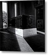 Saint Louis Soldiers Memorial Black And White Metal Print