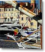 Saint Tropez Harbor Metal Print