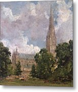 Salisbury Cathedral From The South West Metal Print