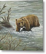 Salmon For Lunch Metal Print