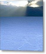 Salt Flat, Death Valley Metal Print