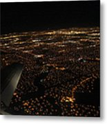 Salt Lake City At Night Metal Print