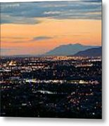 Salt Lake Nightscape Metal Print