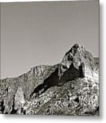 Salt River Black And White Metal Print