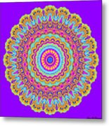 Saltwater Taffy Mandala Metal Print
