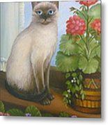 Samantha The Siamese Cat Metal Print