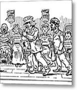 Samuel L. Clemens Cartoon Metal Print