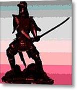 Samurai Sunrise Metal Print