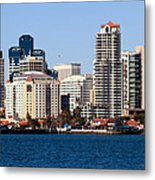 San Diego Buildings Photo Metal Print by Paul Velgos