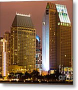 San Diego City At Night Metal Print