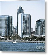San Diego Downtown Waterfront Buildings Metal Print