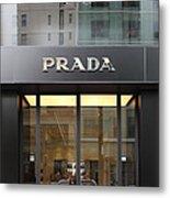 San Francisco - Maiden Lane - Prada Fashion Store - 5d17798 Metal Print by Wingsdomain Art and Photography
