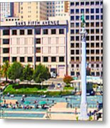San Francisco - Union Square - 5d17938 - Square - Painterly Metal Print