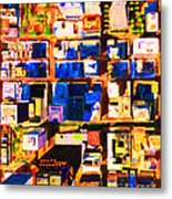 San Francisco Birdseye Abstract . Painterly Metal Print by Wingsdomain Art and Photography