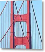 San Francisco Golden Gate Bridge . 7d7809 Metal Print
