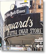 San Francisco Marquard's Little Cigar Store On Powell And O'farrell Streets - 5d17954 - Painterly Metal Print