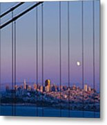 San Francisco Moon Metal Print