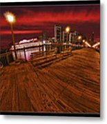 San Francisco Red Sky Pier Metal Print