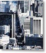 San Francisco Skyline-grunge Metal Print