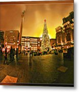 San Francisco Union Square Xmas Metal Print
