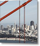 San Francisco Through The Cables Metal Print