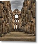 San Galgano  - A Ruin Of An Old Monastery With No Roof Metal Print