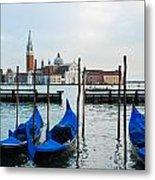 San Giorgio Maggiore And Gondolas Metal Print