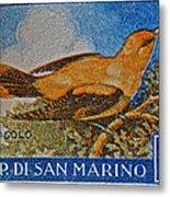 San Marino 1 Lire Stamp Metal Print